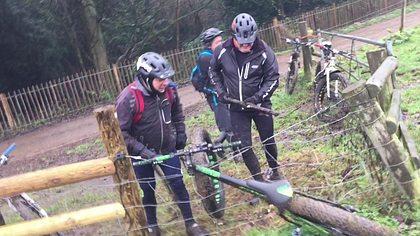Das Fahrrad war schuld: Drei Männer versus Elektrozaun