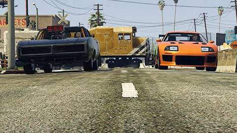 Fast & Furious in GTA online nachgedreht - Foto: YouTube /  Zocker TV 2013 ; Rockstar Games