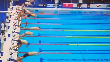 Große Geste: Spanischer WM-Schwimmer verblüfft Publikum