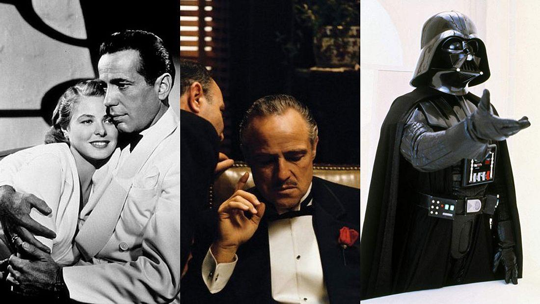 Casablanca, Der Pate und Das Imperium schlägt zurück