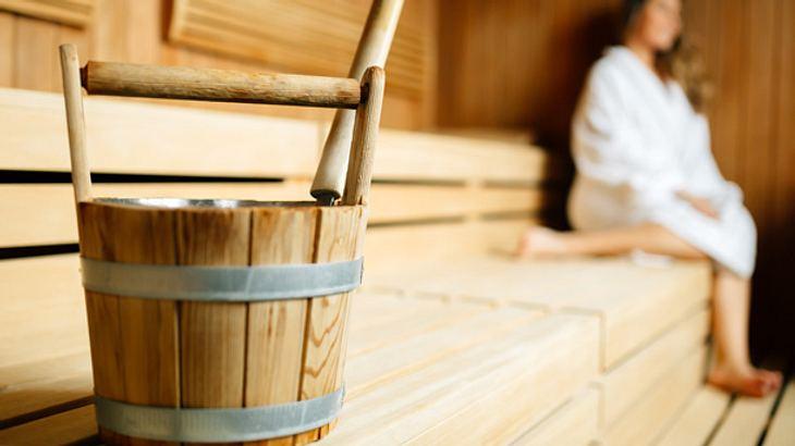 Finnische Sauna - Sauna - Aufgusseimer