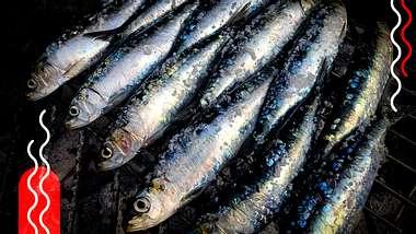 Gegrillte Fische - Foto: getty images/  Tim Bieber, Collage / bearbeitet durch Männersache