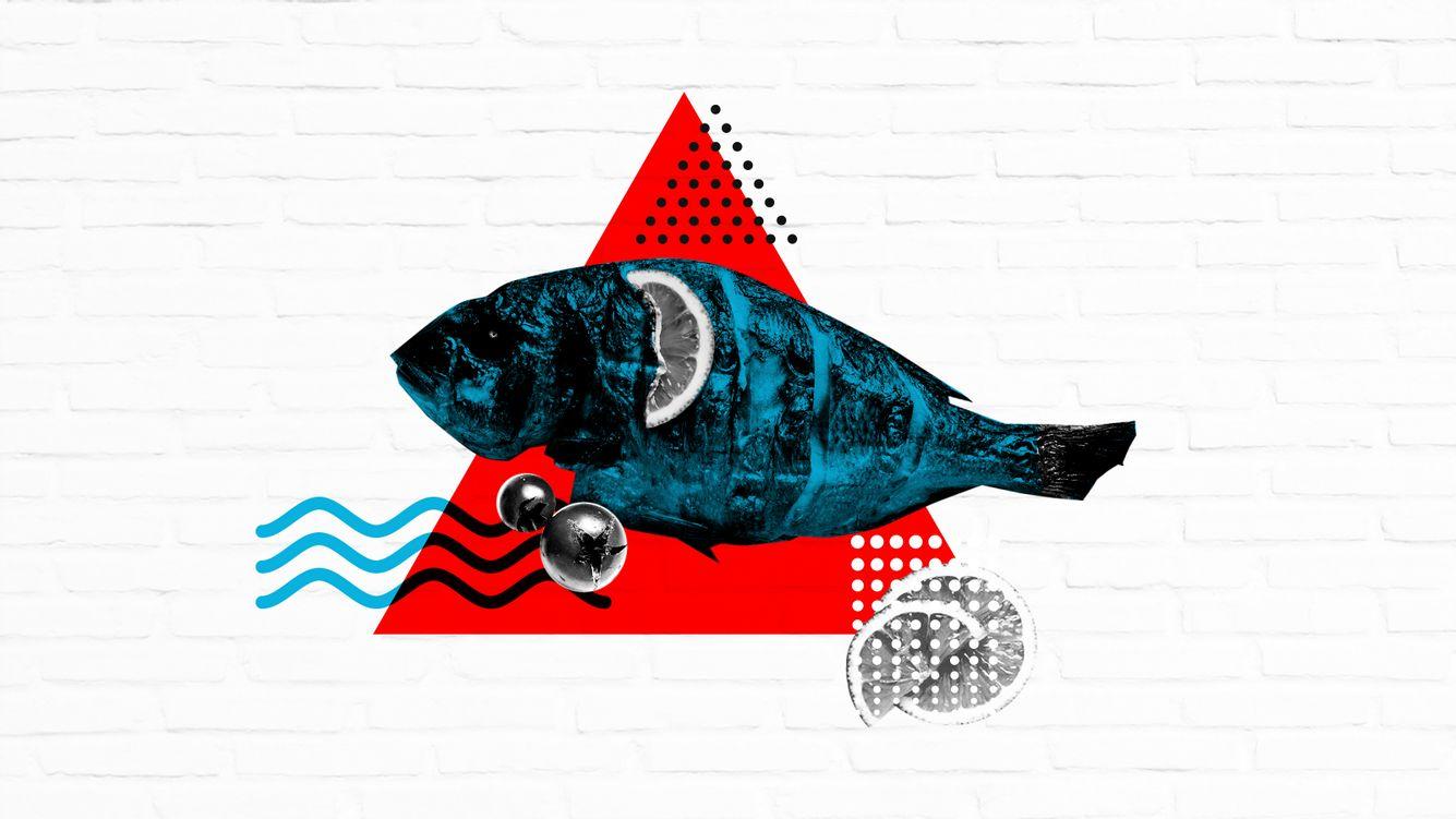 Gegrillter Fisch