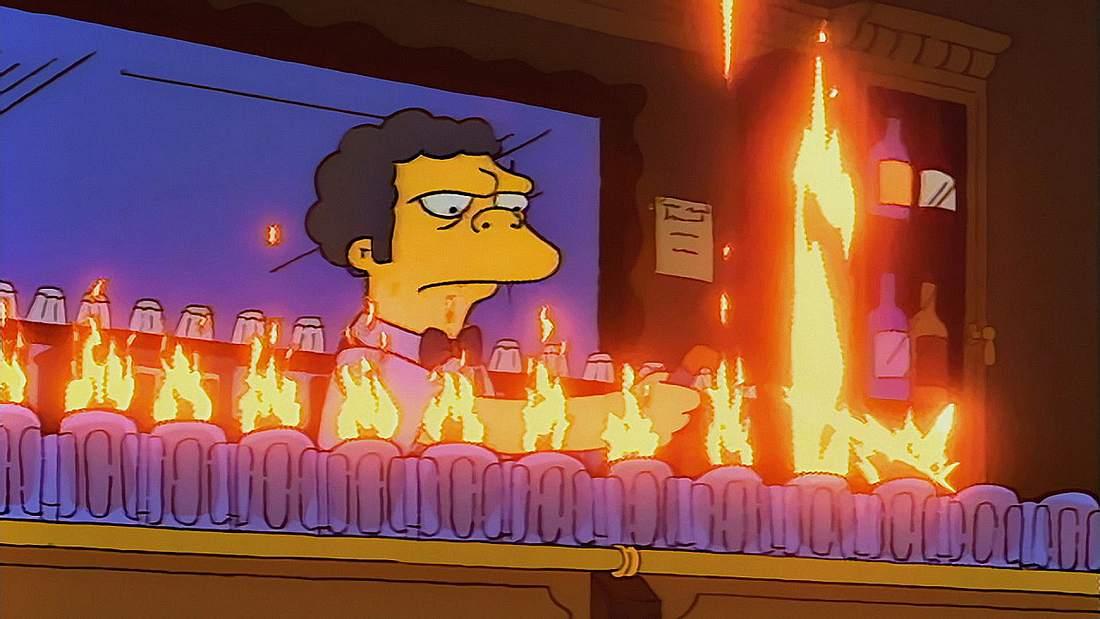 Flaming Moe & Co: Ein YouTuber zeigt die Rezepte für Simpsons-Cocktails aus Moe's Taverne