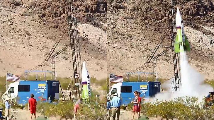 """Flat Earth""-Befürworter startet selbstgebastelte Rakete"