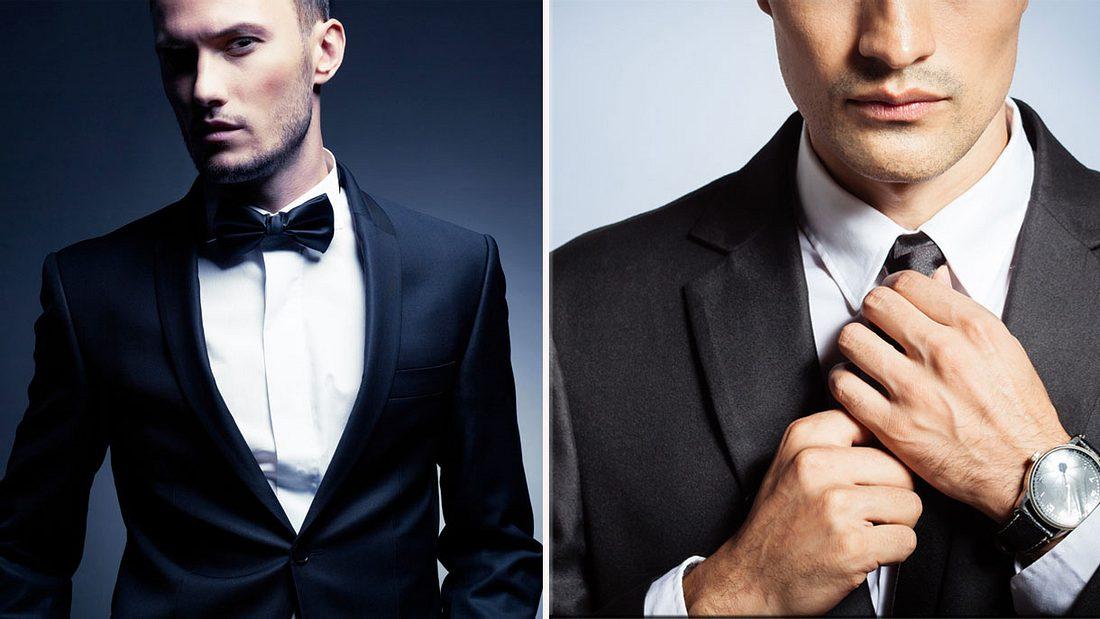 Fliege oder Krawatte zum Anzug? (Symbolfoto/Collage)