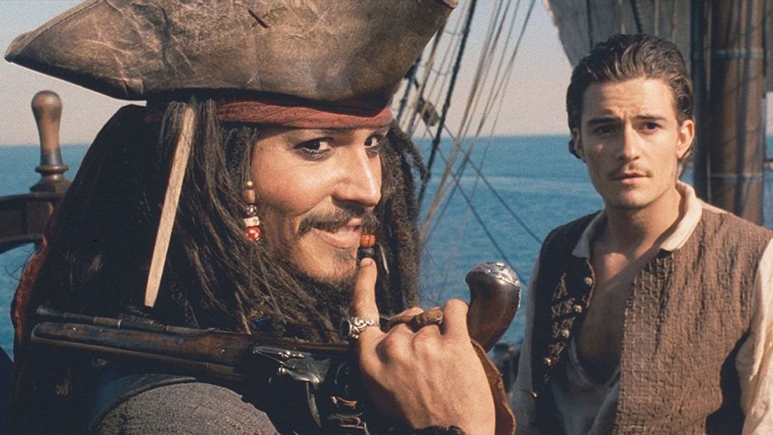 Johnny Depp und Orlando Bloom in Fluch der Karibik