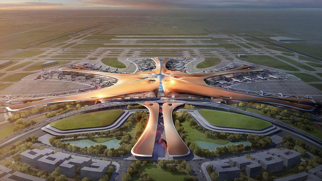 New Beijing Airport, der größte Flughafen der Welt