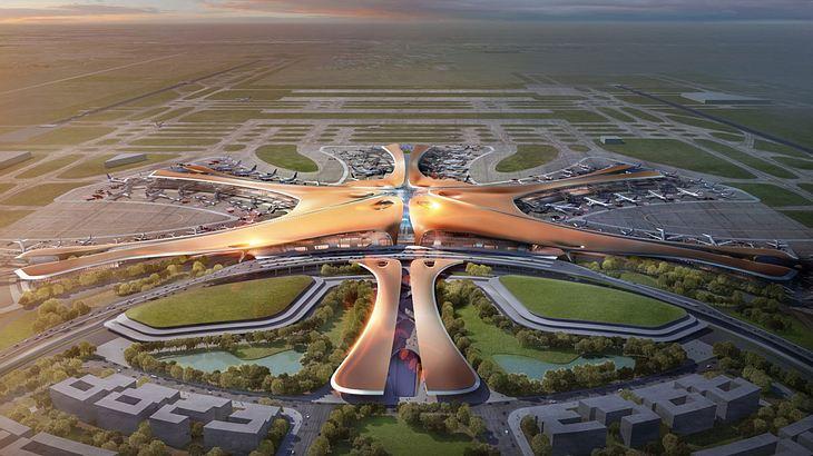 """""""New Beijing Airport"""", der größte Flughafen der Welt"""