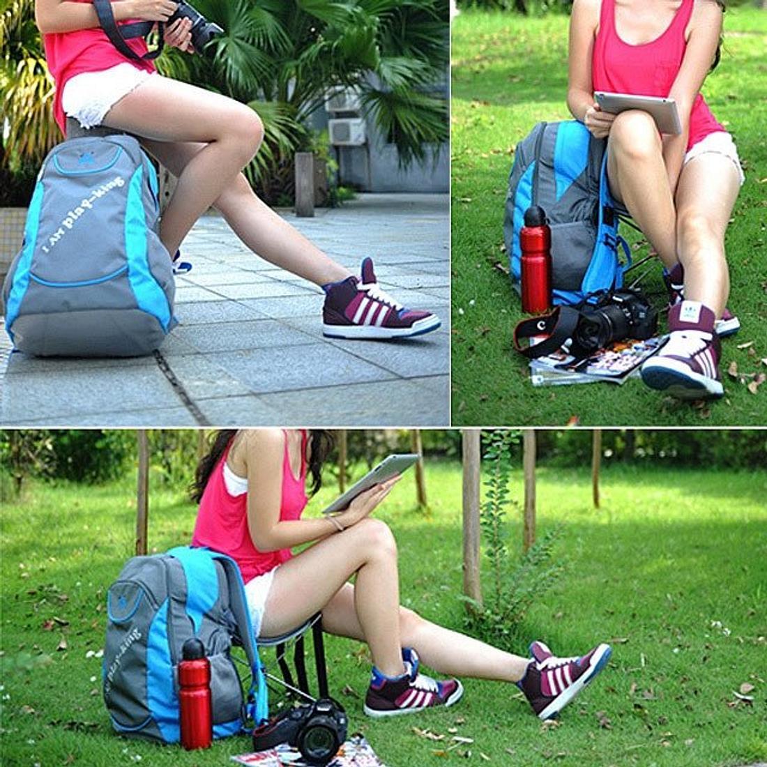 Der Foldable Backpack Chair ist Rucksack und Stuhl in einem