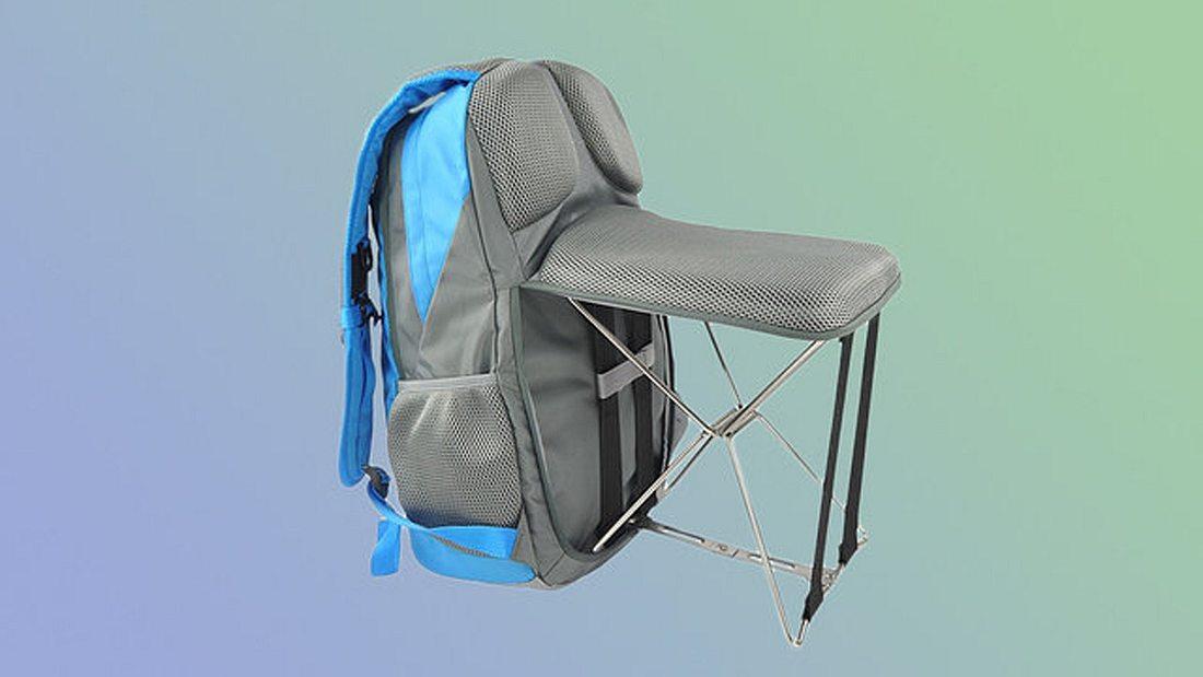 Foldable Backpack Chair: Dieser Rucksack mit integriertem Stuhl kann für 75 Dollar auf der Online-Plattform Brando gekauft werden