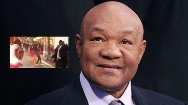 Boxlegende George Foreman von Straßenschläger angegriffen - alles auf Film