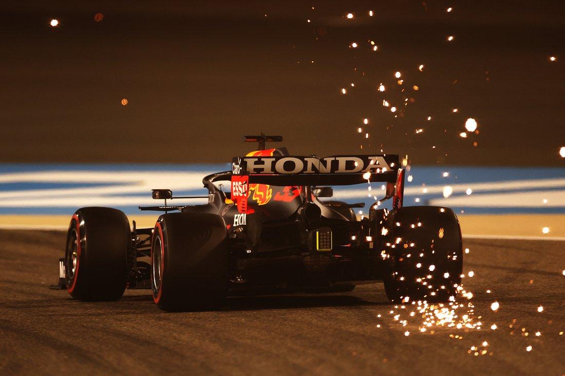 Max Verstappen in Bahrain 2021