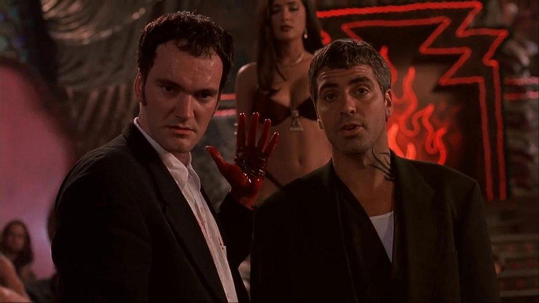 Quentin Tarantino, George Clooney und Salma Hayek