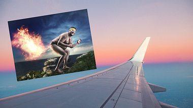 Furzen im Flugzeug wird empfohlen. - Foto: iStock/FluxFactory, iStock/Nomadsoul1