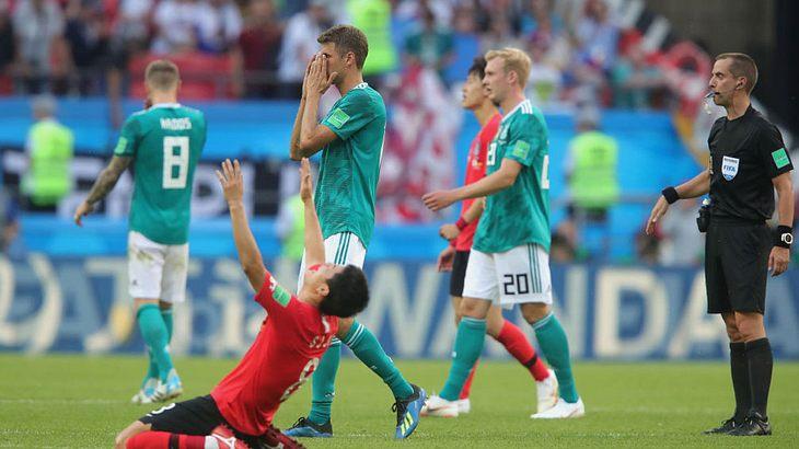 Das erste WM-Vorrunden-Aus einer Deutschen Elf: Jogis Jungs sind fassungslos