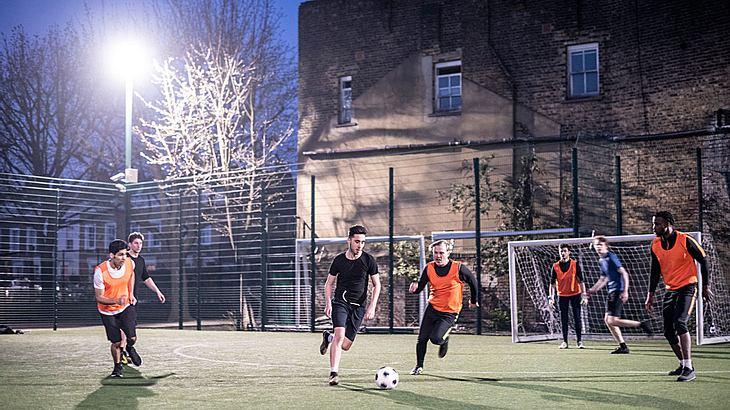 Amateur-Fußballspiel