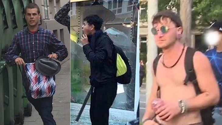 Die Hamburger Polizei fahndet nach G20-Tätern