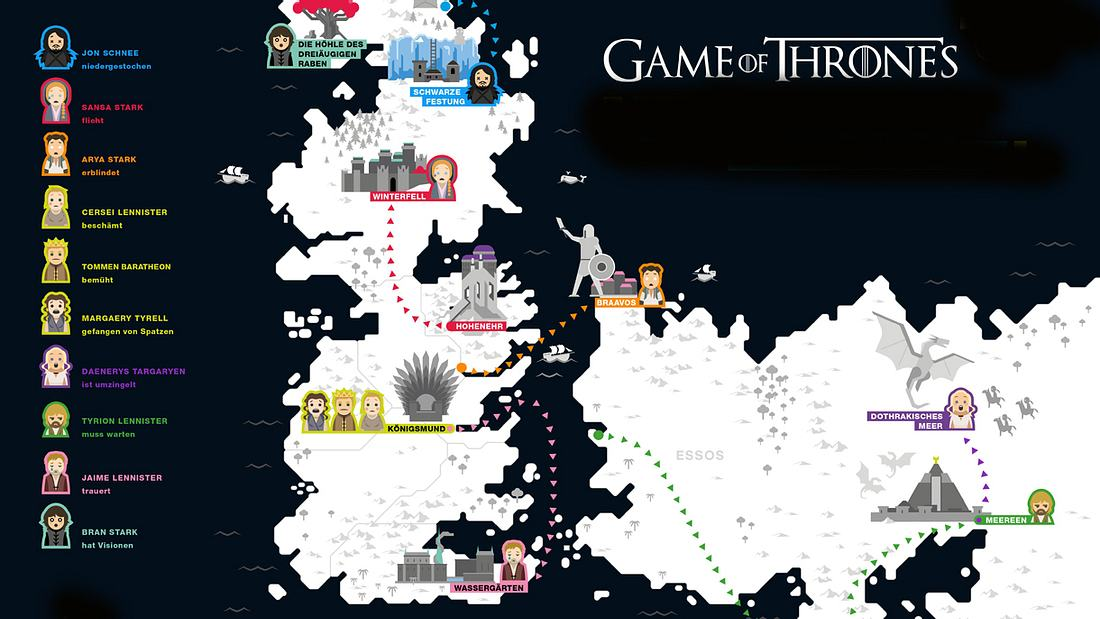 Game of Thrones: Karte zeigt Westeros zur Staffel 6