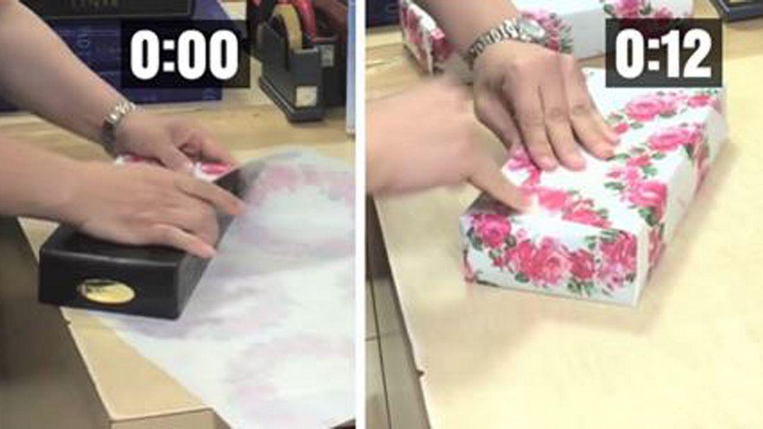 Video: So packst du Geschenke in 12 Sekunden ein