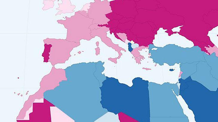 Das weltweite Geschlechtsverhältnis als interaktive Infografik