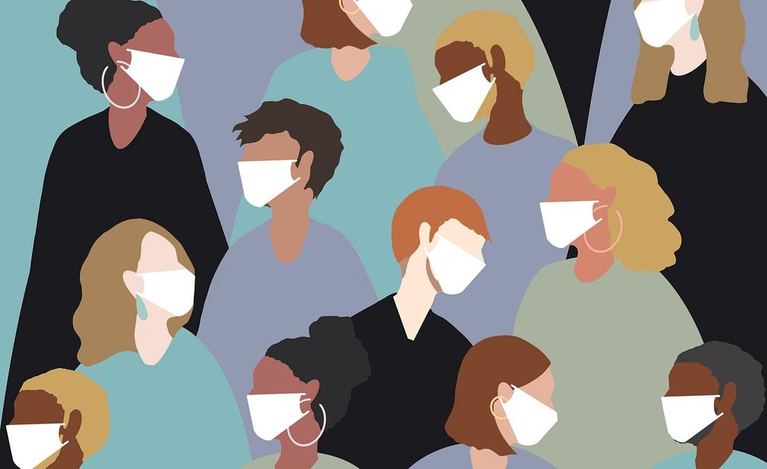 Gesichtsmasken Grafik