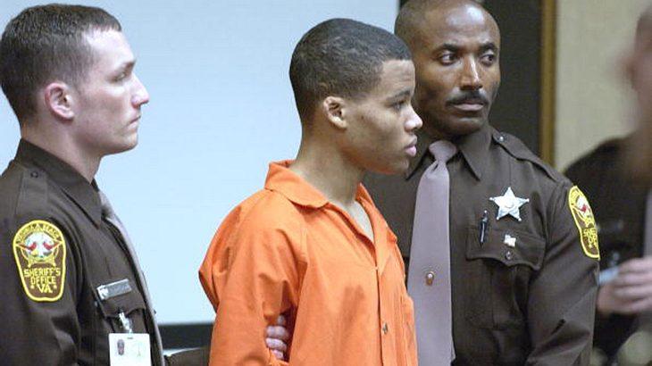 Lee Boyd Malvo während seiner Gerichtsverhandlung