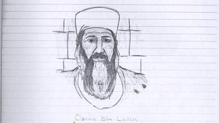 Für Muhammad glaubte Malvo an den Dschihad und malte Bilder von Osama Bin Laden in Haft