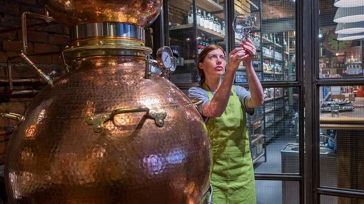 Gin-Herstellung