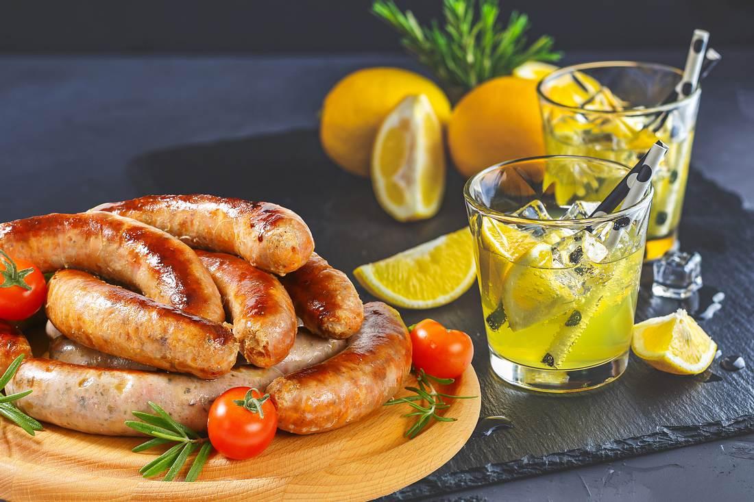 Bratwurst mit Gin-Tonic-Aroma