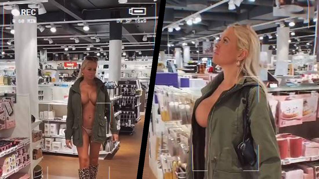 Gitte von G beim nackt-Shoppen