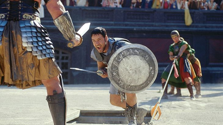 "Russell Crowe in ""Gladiator"""