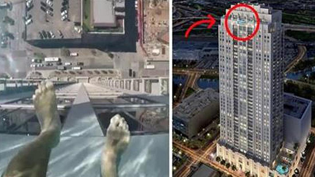 Sky Pool: Der Market Square Tower in Houston besitzt einen Swimmingpool mit Glasboden