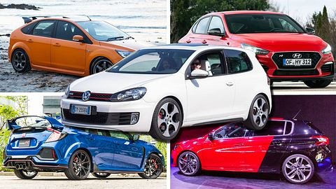 Der VW Golf GTI und seine Herausforderer - Foto: iStock / Streager / Rowan Patrick Photos / teddyleung / Tramino / zavatskiy (Collage Männersache)