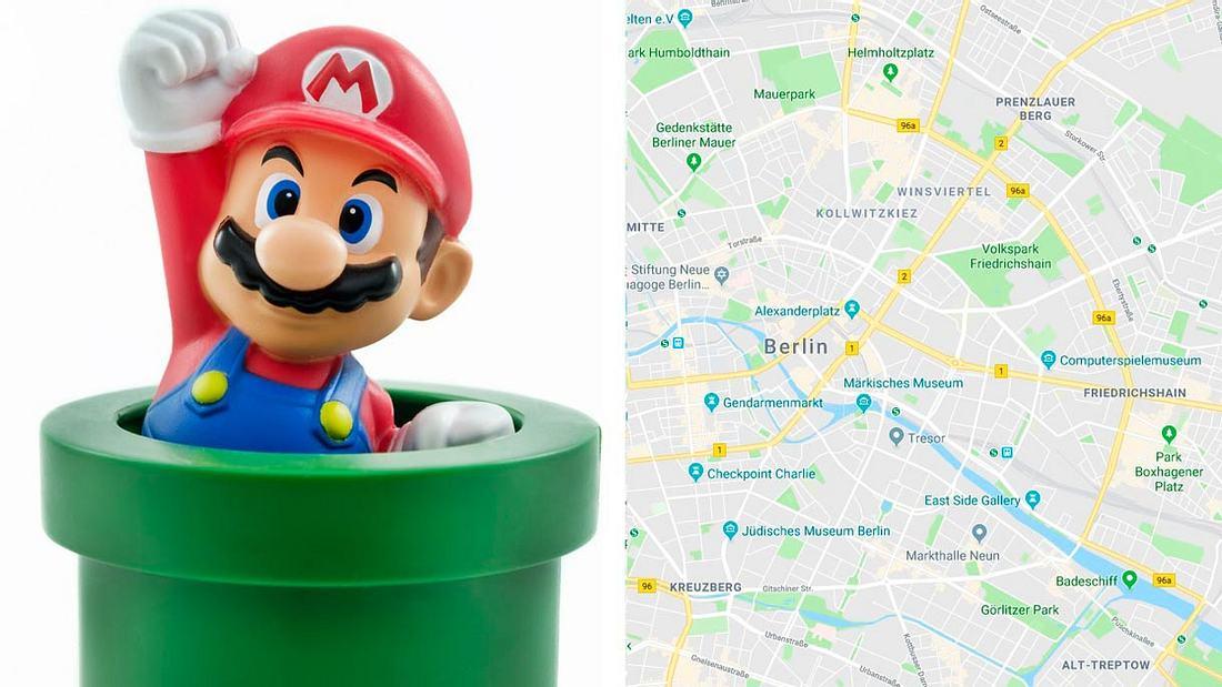 Mario düst über Google