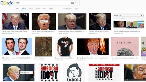 Google: Wer Idiot sucht, bekommt Trump-Bilder
