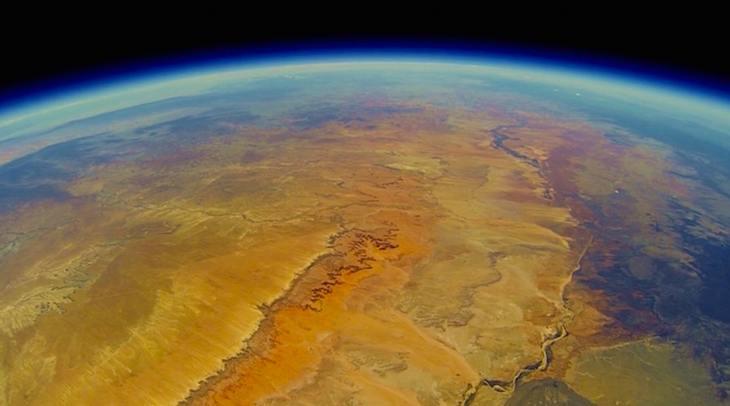 Der Grand Canyon aus dem Weltraum gefilmt