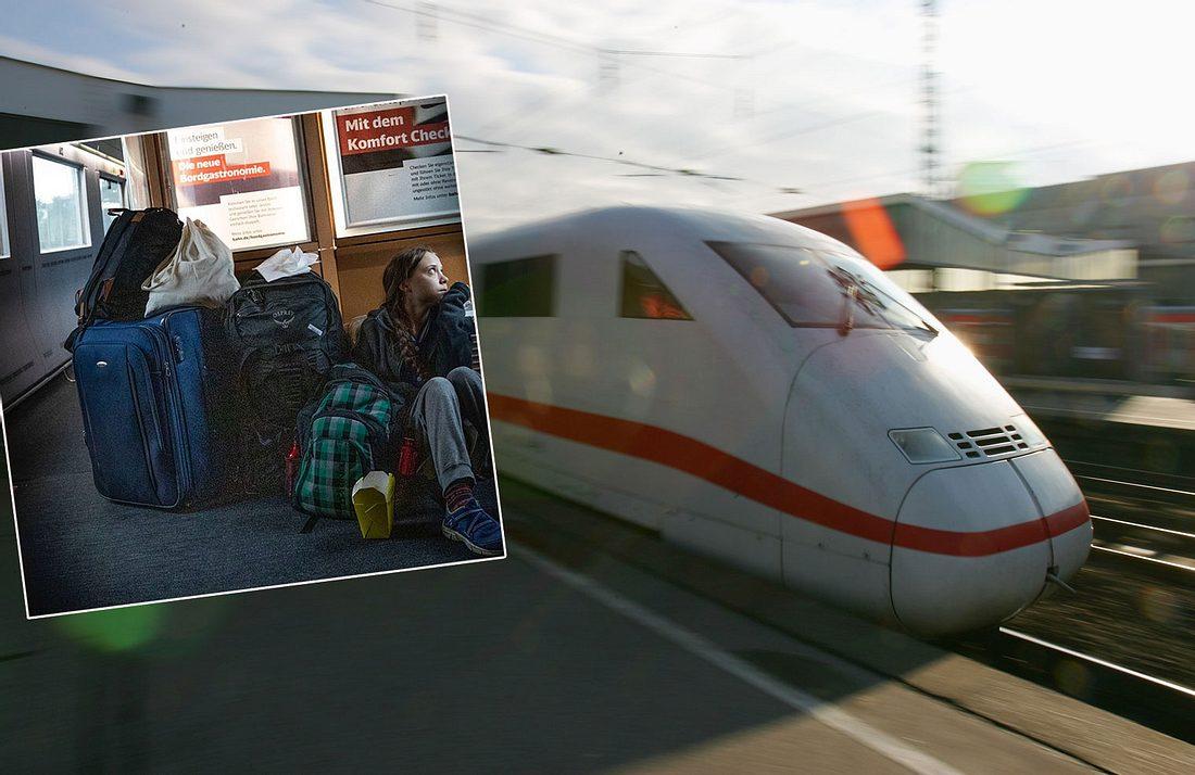 Greta Thunberg in der Deutschen Bahn