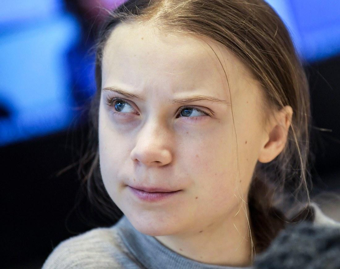Greta Thunberg während eines Interviews