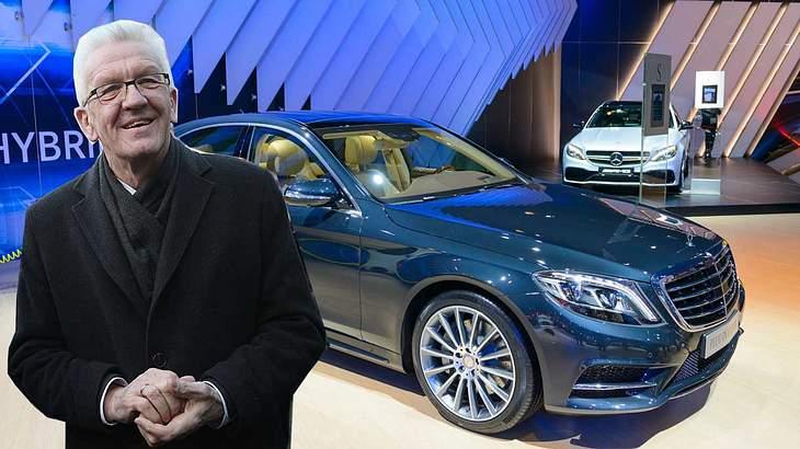 Gretschmann und sein Mercedes S-Klasse Dienstwagen