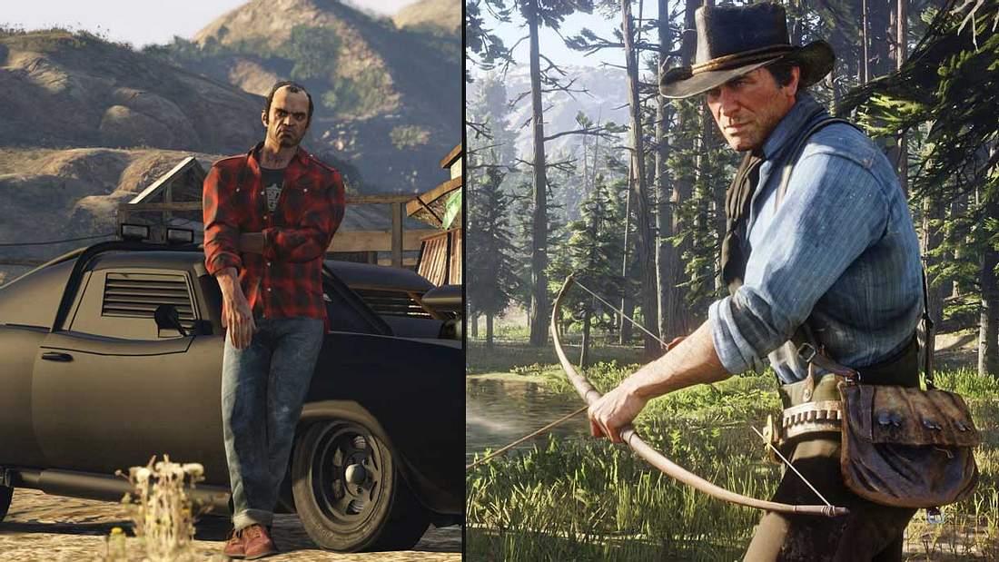 GTA V und Red Dead Redemption 2