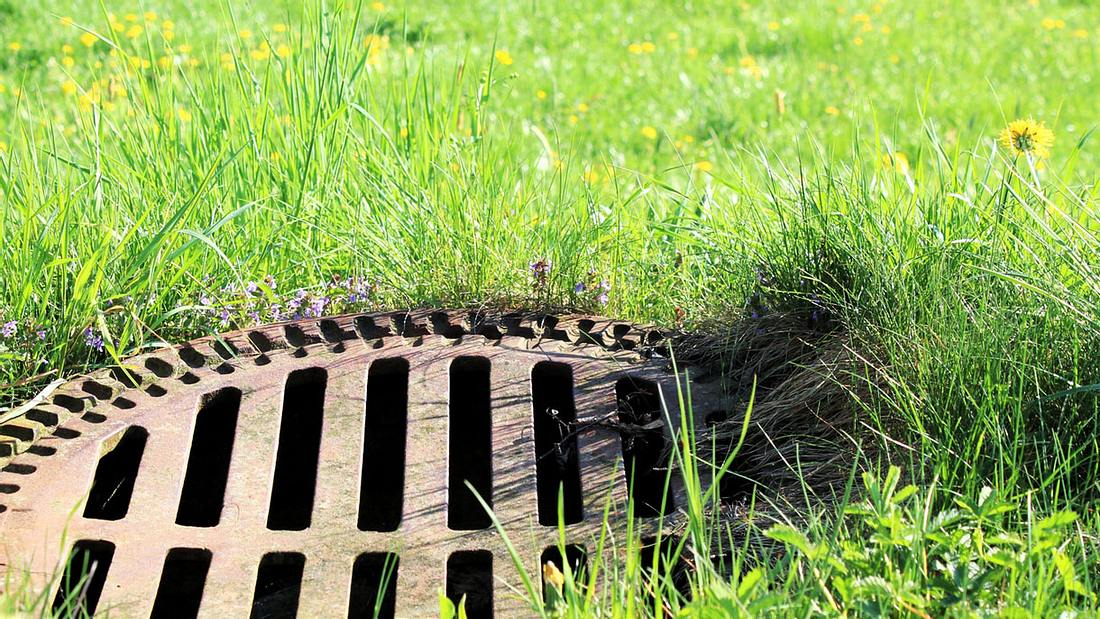 Gullideckel im Garten