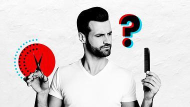 Mann mit Kamm und Schere - Foto: iStock / Männersache
