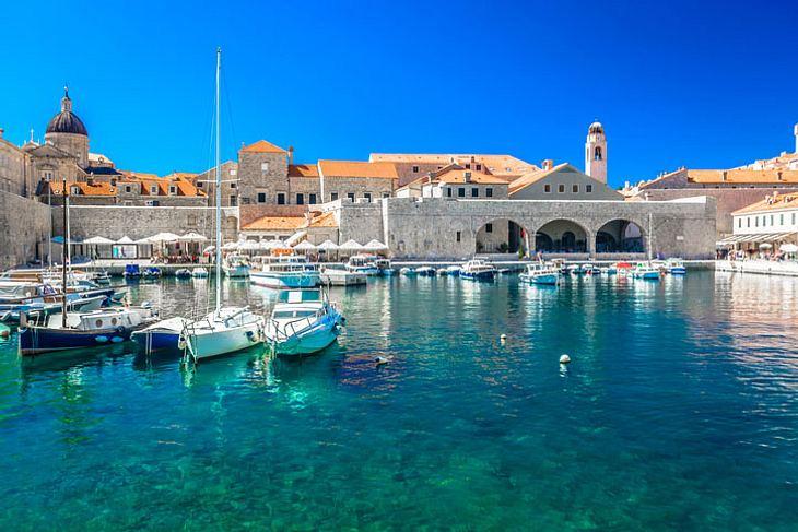Stadthafen von Dubrovnik.