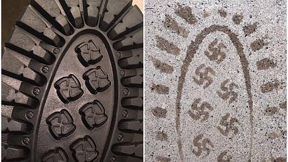 Fail! Diese Schuhe hinterlassen Hakenkreuz-Abdrücke