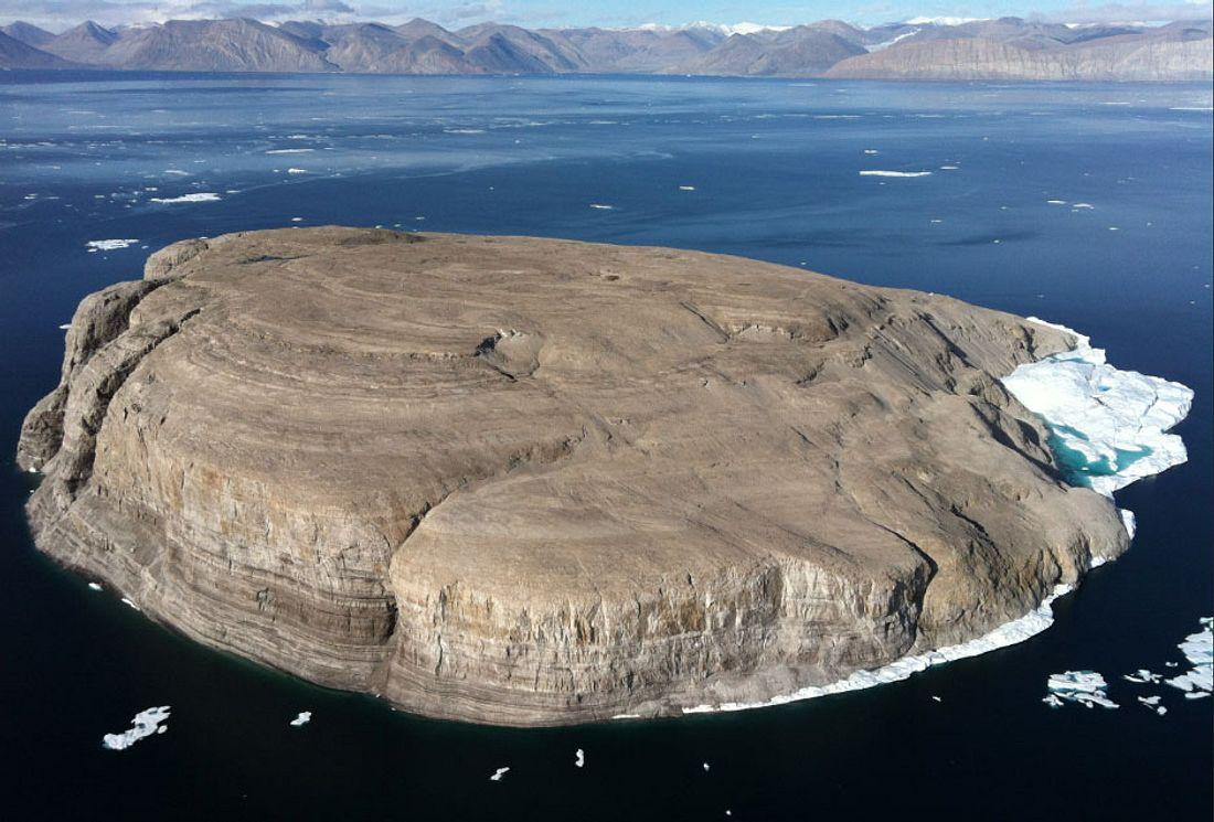 Hans-Insel als Zankapfel zwischen Kanada und Dänemark.