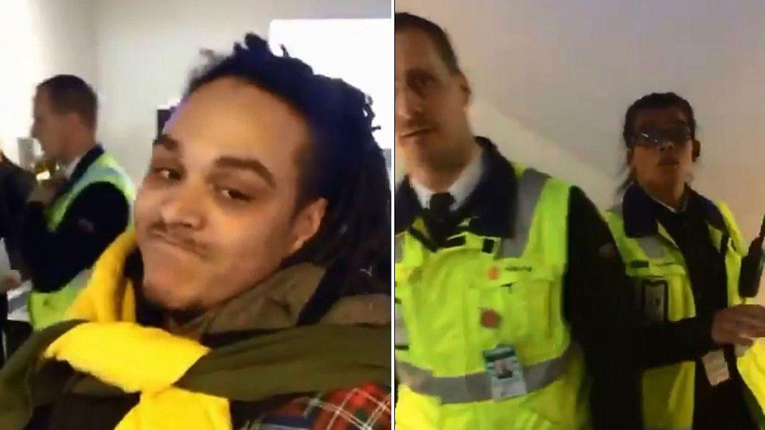 Ryan Hawaii am Flughafen verhaftet