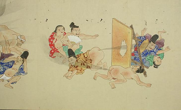 He-gassen ist japanische Furz-Kunst
