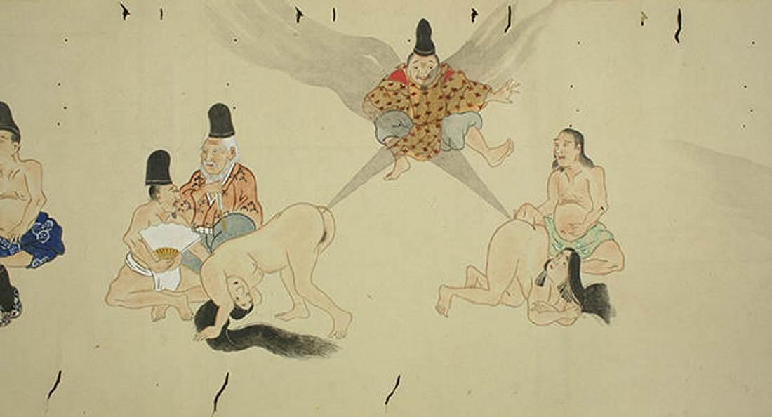He-gassen ist japanische Furz-Kusnt