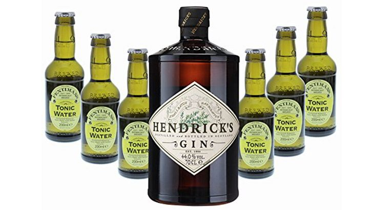 Hendrick's Gin-Set mit Tonic Water